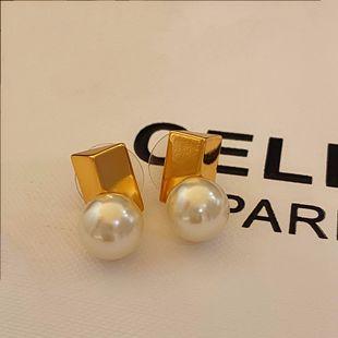 anna同款高端線jill大姐姐同款 法式優雅 極簡風chic 珍珠 耳環
