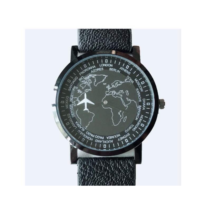 英国现货正品ASOS Watch个性潮流黑色小飞机男士手表腕表石英手表