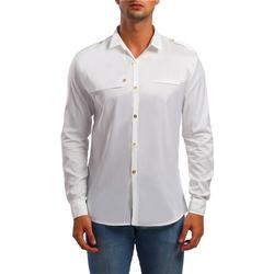 速卖通WISH欧美男士修身时尚肩章工装长袖衬衫RC67-P30