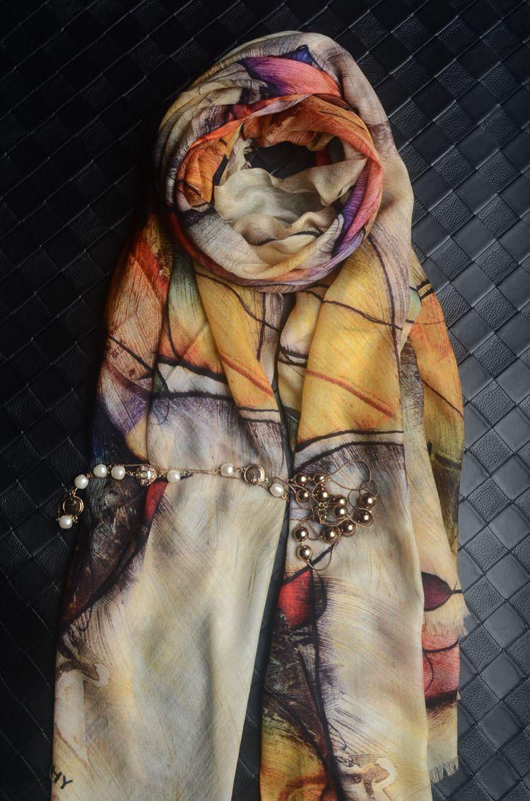 Linzi scarf 19 autumn winter new high grade pure cashmere long scarf thin warm versatile Scarf Shawl woman