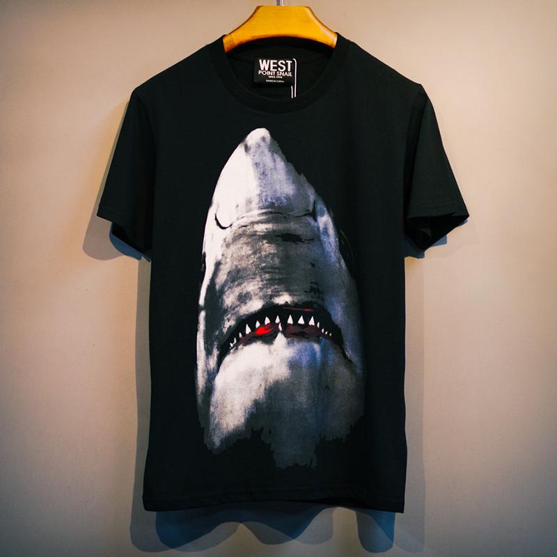 热销30件正品保证潮牌嘻哈短袖鲨鱼男潮流百搭学t恤