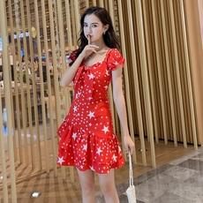 夏新款很仙法国小众星星吊带连衣裙仙女超仙甜美a字度假鱼尾裙子