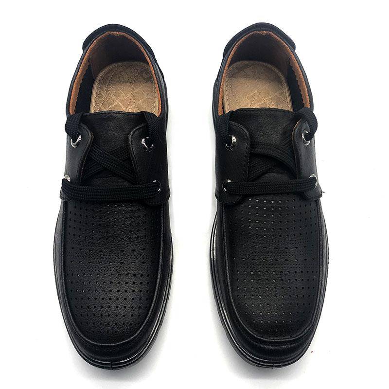 泰和源夏款一脚蹬系带舒适透气防滑商务休闲男鞋网鞋老北京布鞋