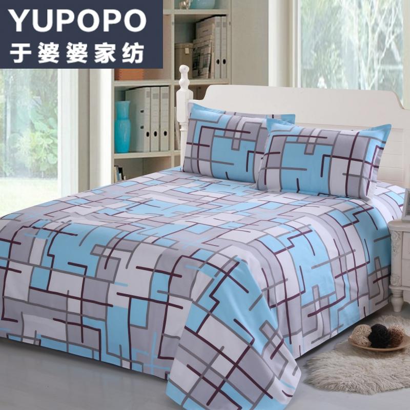 于婆婆福袋 纯棉老粗布床单双人床单学生床单单人宿舍被单