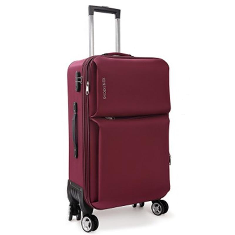 牛津布行李箱男女旅行箱万向轮防水大容量学生拉杆箱包帆布箱子