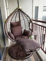 室内吊篮藤椅摇篮脚踏秋千阳台吊椅庭院家用单双人吊床椅住宅家具