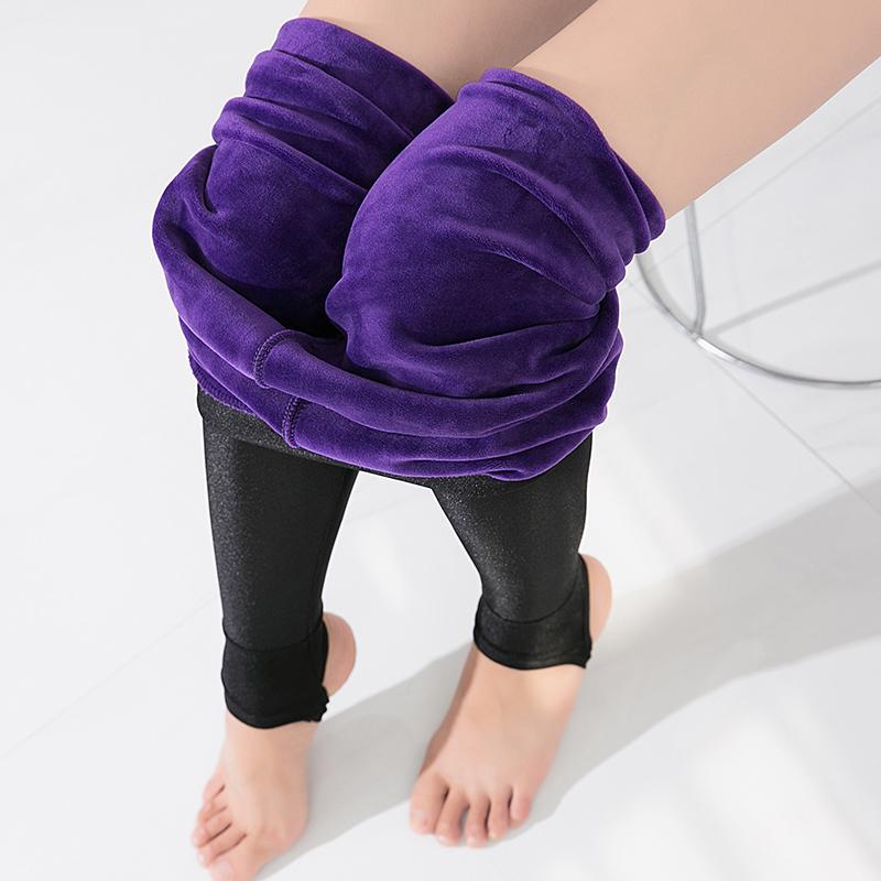 斤加绒加厚紫貂绒光泽裤高腰外穿弹力显瘦打底裤大码23070克400