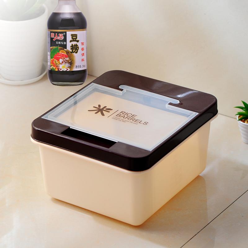 米桶10KG 儲米箱塑料帶蓋廚房裝麵粉大米防潮防蟲密封米缸食品級