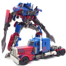 呂Paの本物の恐竜のおもちゃ5トランスフォーマーバンブルビーオプティマスプライムロボットモデル男の子のギフト合金