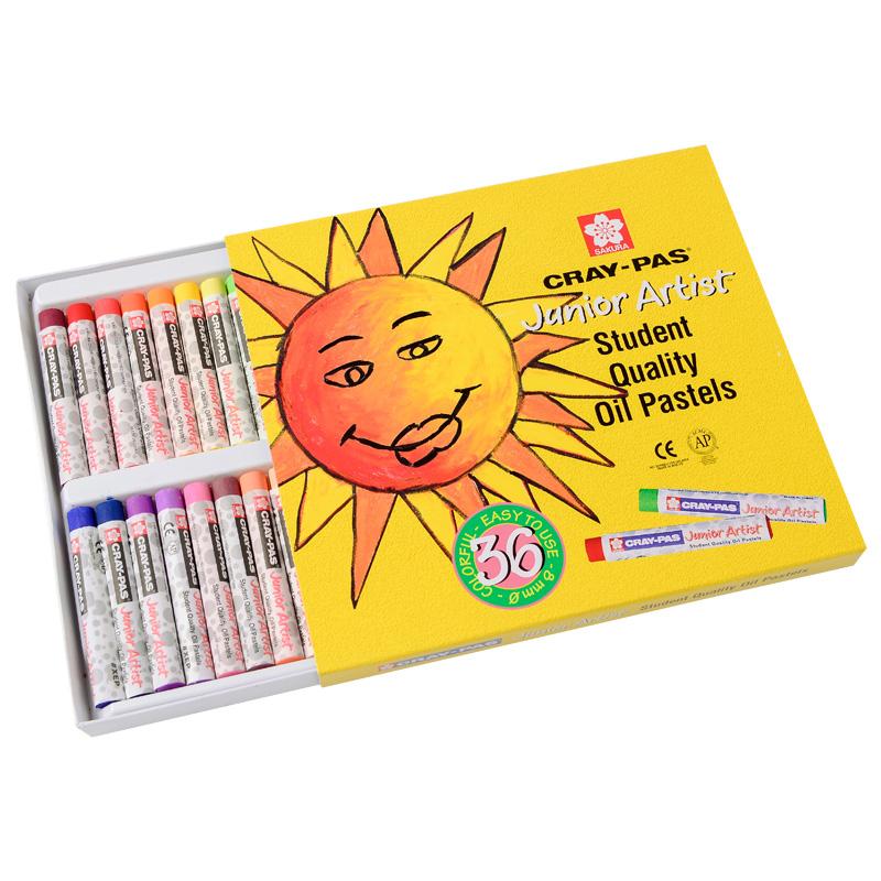 櫻花牌油畫棒36色櫻花油畫棒 蠟筆炫彩棒 學生兒童開學繪畫軟蠟筆
