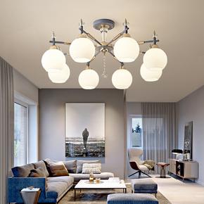 北欧客厅吊灯简约现代家用大气卧室灯网红创意餐厅灯轻奢风格灯具