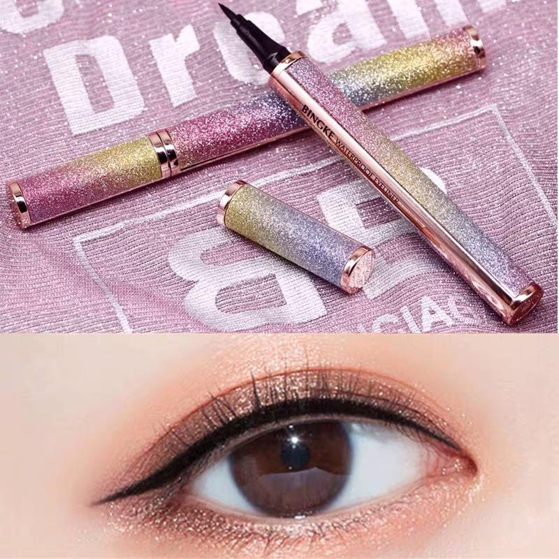 Tiktok 4D eye gel eye liner eye liner, female waterproof pen, no dizzy dyed red.
