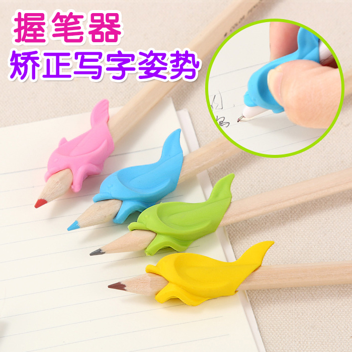 Дельфин рукоятка точилка сокровище младенец дети студент карандаш защитный кожух anti-близорукость стерилизовать исправлять положительный рукоятка карандаш запись поза