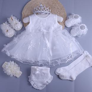 新生儿衣服纯棉婴儿裙子0 1岁夏季 女宝宝背心连衣裙满月百天公主