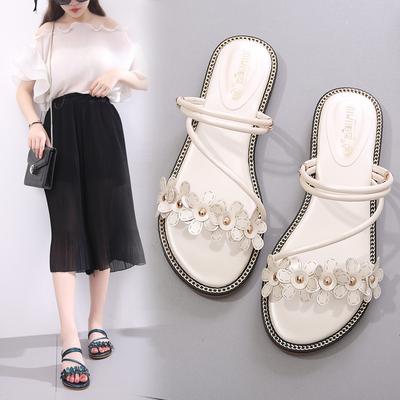凉鞋女2019新款夏季仙女风平底女士网红一鞋两穿时尚百搭学生拖鞋