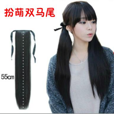 【 две части вооруженных 】 лошадь хвост коса милый лори галстук веревки прямые волосы хвощ лесной производительность cosplay парик женщина