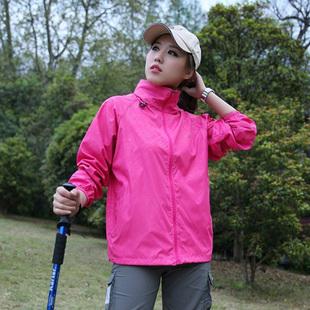 户外春夏秋季大码冲锋衣男女超薄款单层防水透气速干防风运动外套