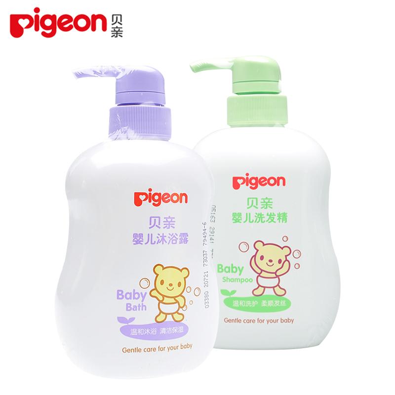 贝亲初生婴儿洗发沐浴二合一套装 宝宝儿童洗发水沐浴露500ml*2瓶