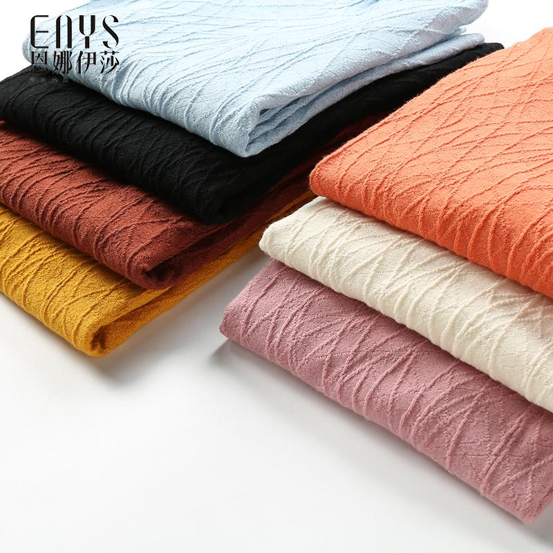 Enna Issa 2020 winter new versatile jacquard cardigan womens sweater T-shirt multicolor overcoat