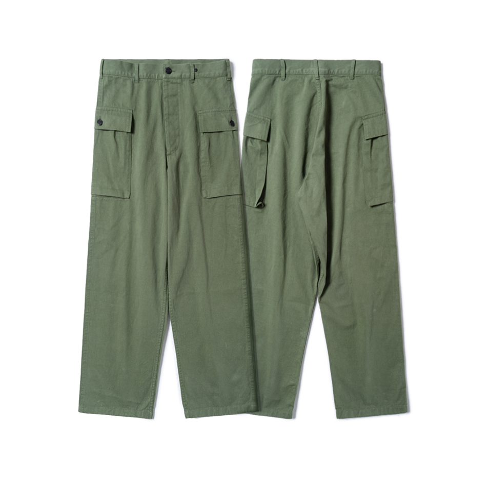 Sburla / senbailai imported fabric from Japan! Mens military pants with retro HBT stereo two storage pockets