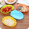 Modern fashion creative fruit plate leaves oval-shaped plastic fruit bowl dish dried fruit snack candy bowl living room