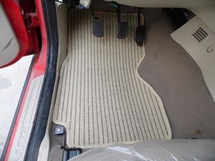 专用通用亚麻汽车脚垫所有车型汽车地垫透气面料条纹车脚垫专车垫图片