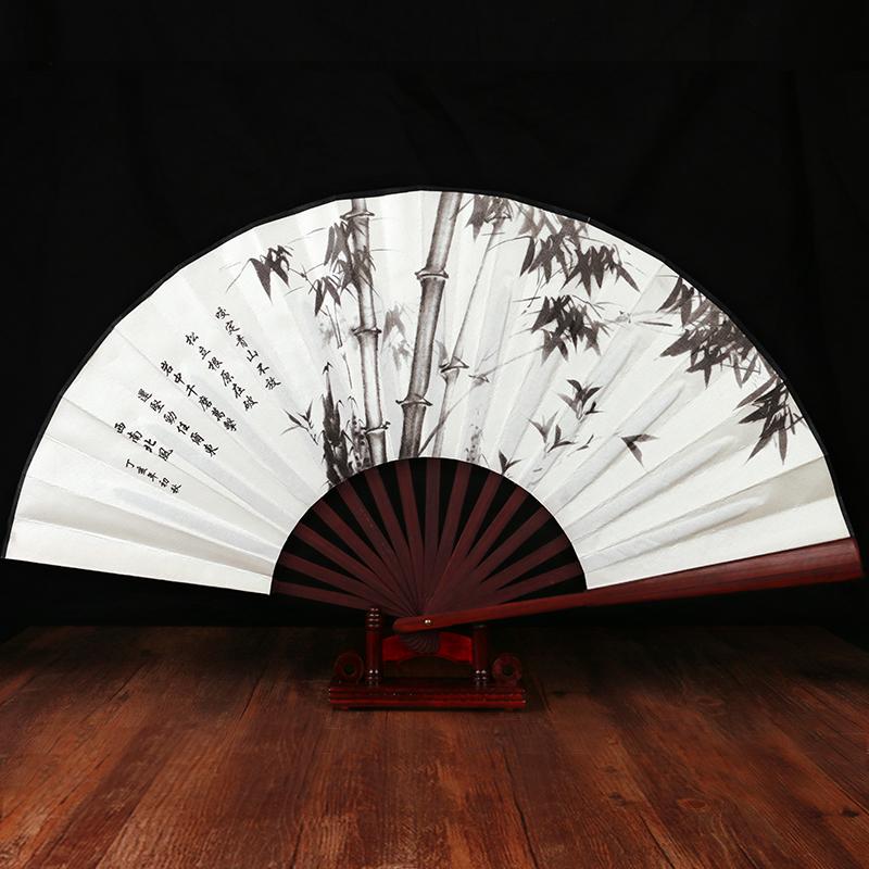 清风古风扇子折扇中国风 男绢扇折叠扇日用扇复古典 夏季礼物礼品