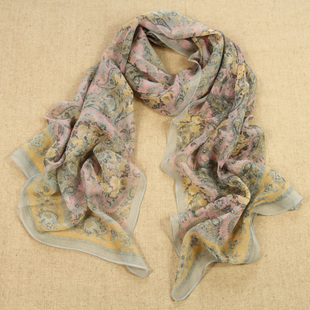 Elegant totem scarf Korean autumn and winter long scarf shawl dual Ms warm summer sun