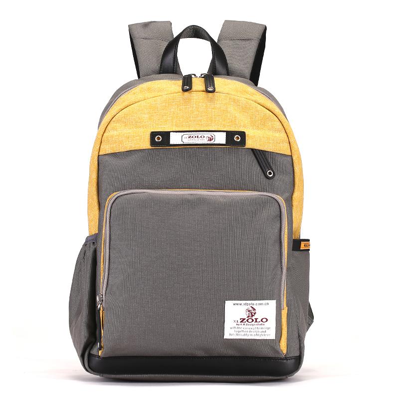 2018新款男韩版防水牛津布双肩包商务包休闲包学生书包14寸电脑包
