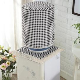 高档格子饮水机罩饮水机桶罩饮水机套防尘罩盖布家用客厅现代简约