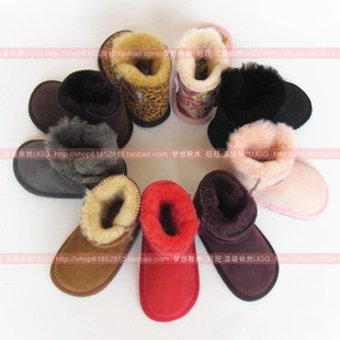 Australia Genuine Sheepskin winter cute baby shoes soft bottom toddler baby shoes snow boots shoes for men and women