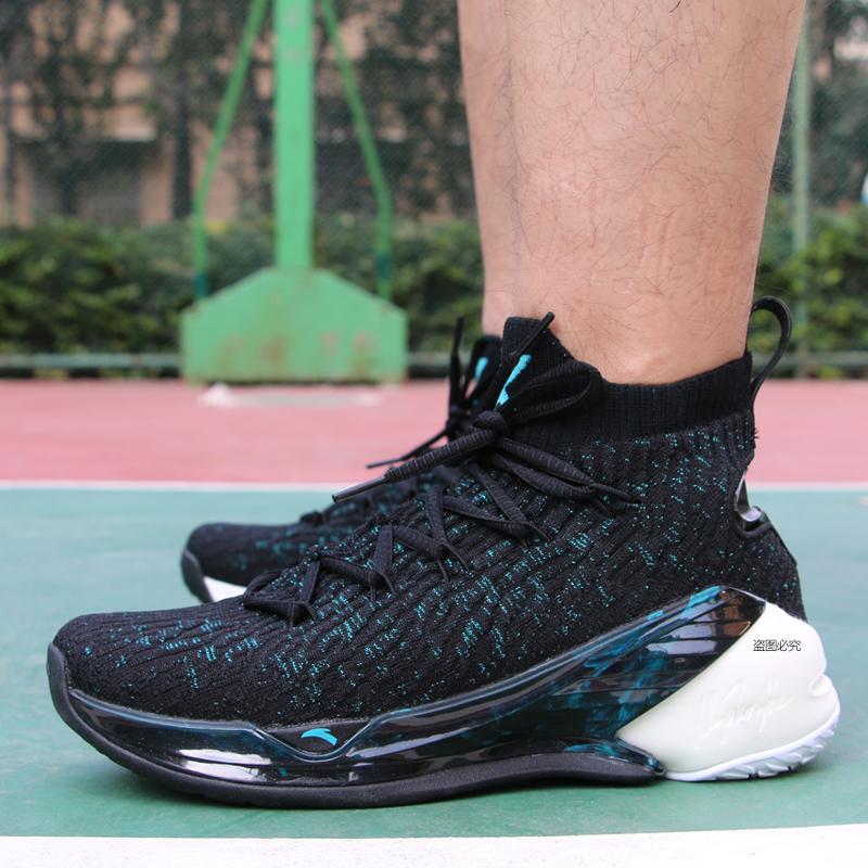 安踏篮球鞋2018冬季新款汤普森4代 KT4 高帮耐磨防滑篮球战靴男