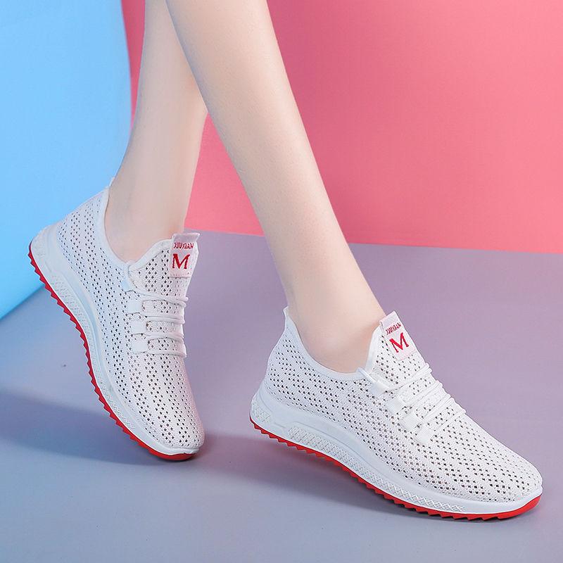 P6透气运动鞋白色网鞋夏季2019新款内增高网面老爹休闲镂空跑步