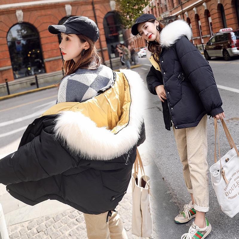 羽绒棉服女2019新款短款宽松冬季时尚棉衣棉袄外套 669P140控198