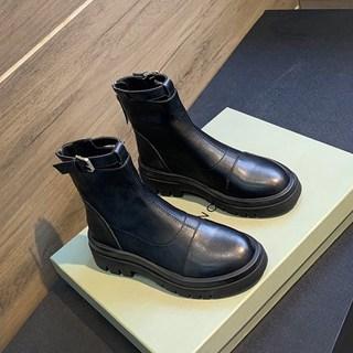 马丁靴女英伦风秋冬季女鞋子2020年新款棉鞋百搭瘦瘦靴子加绒短靴