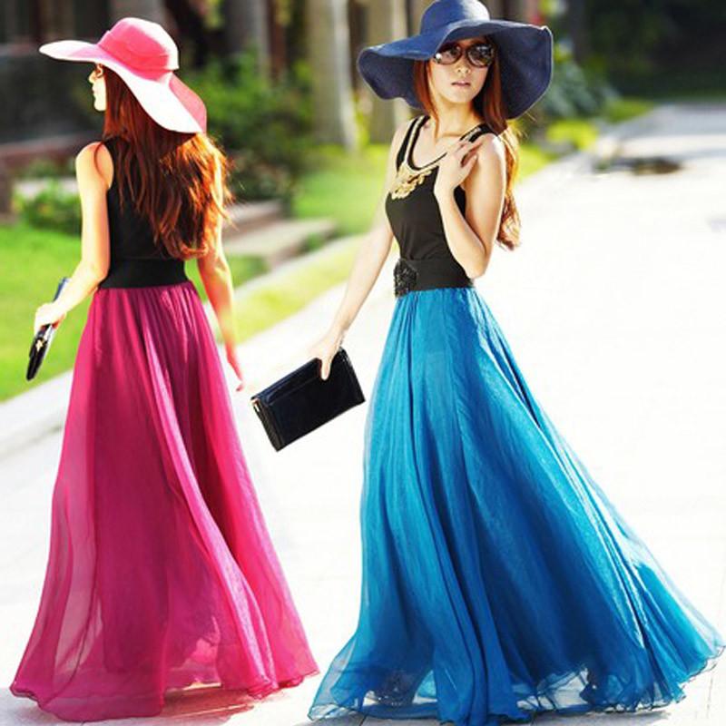 波西米亚大摆半身长裙夏8米拖地沙滩裙雪纺纱裙半裙显瘦仙女裙子(用1元券)