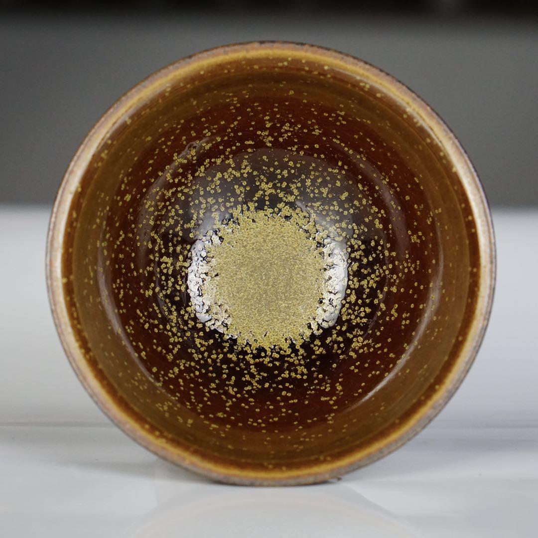 危敏捷九龙窑柴烧建盏茶具茶杯花月夜星汉手工复古陶瓷主人杯珍品