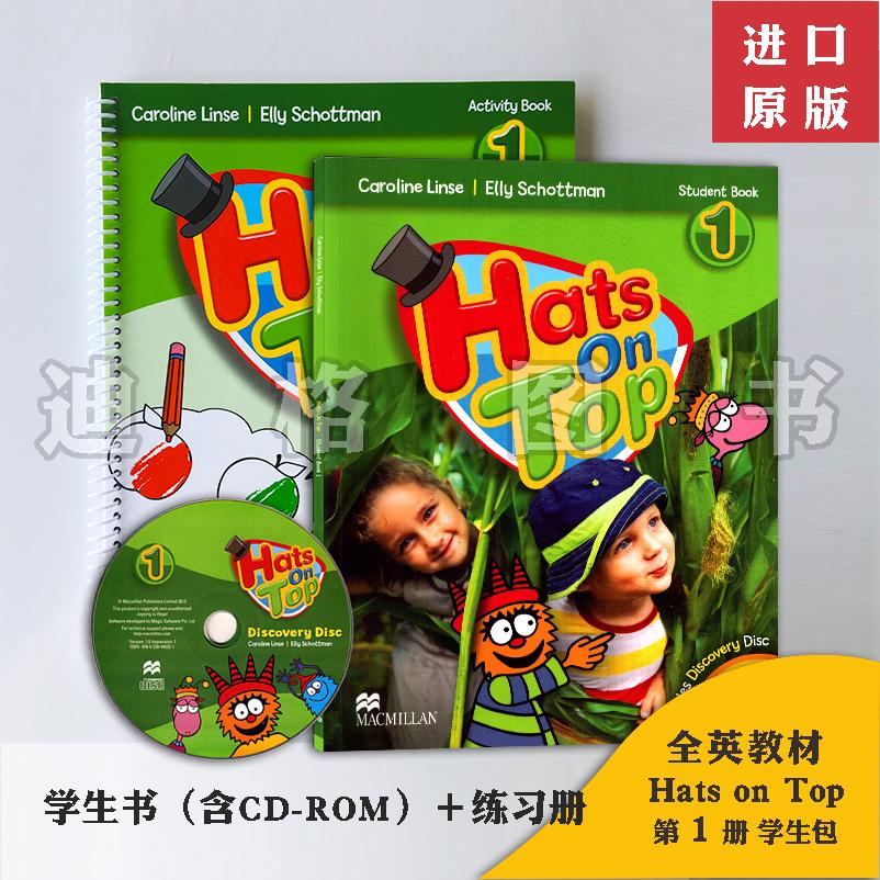 幼儿童英语教材/幼儿园教材Hats on top1麦克米伦原版3-6岁附光盘另送在线培训录播课视频