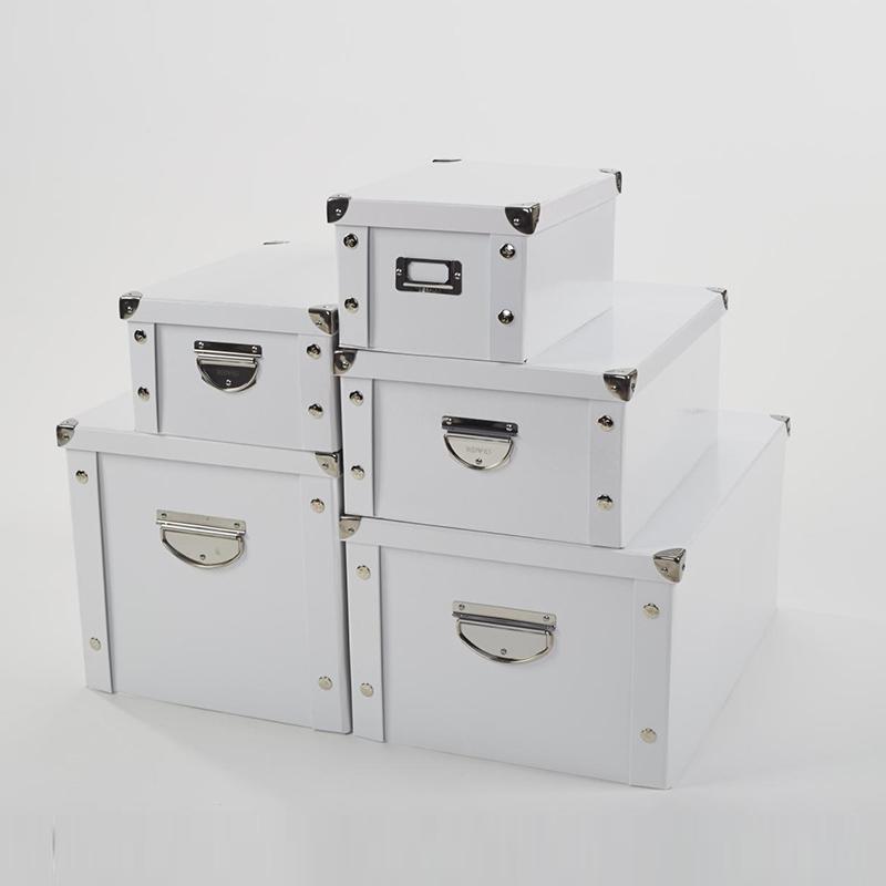 经典纸质收纳盒衣物收纳箱整理箱储物箱纯色黑白色可折叠