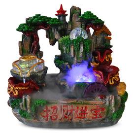 喷泉礼物创意小号假山树脂鱼缸七彩水晶磨创意山水微景观桌面摆件图片