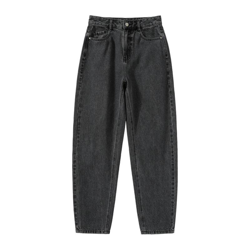 森马2021春秋新款高腰宽松显瘦裤子