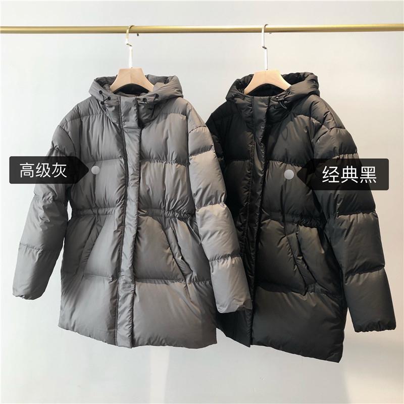 2020新韩国定制!高阶货巨显瘦有气质收腰白鹅绒羽绒服女新