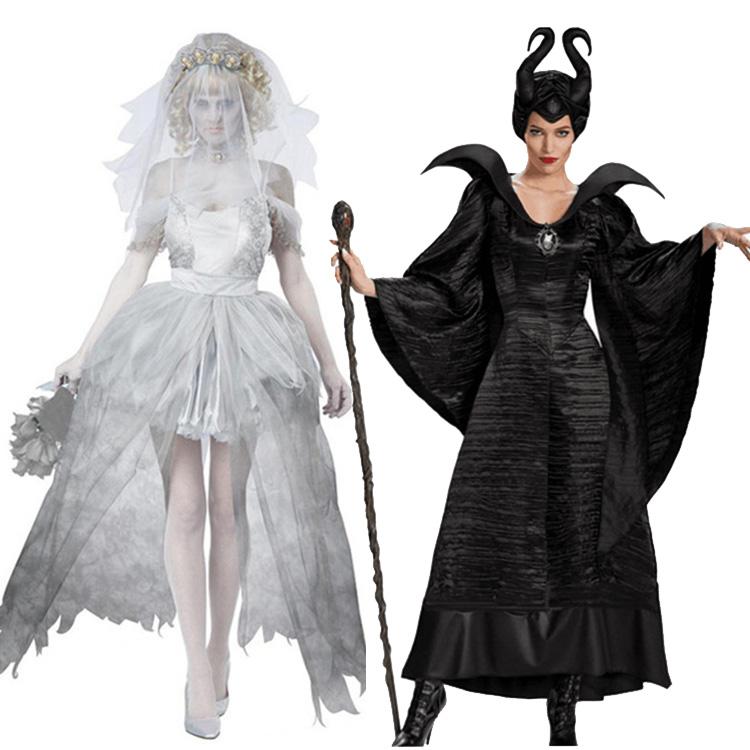 万圣节沉睡魔咒鬼新娘派对服装公主女王女巫演出服化妆舞会服年会