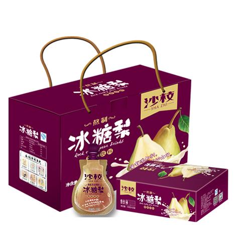 梨加冰糖古方熬制可保留梨果全面营养素清爽可口70gx10袋x4盒