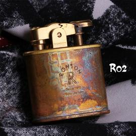 日本进口打火机品牌复古做旧班卓琴蚀迹煤油火石RONSON朗森朗声图片
