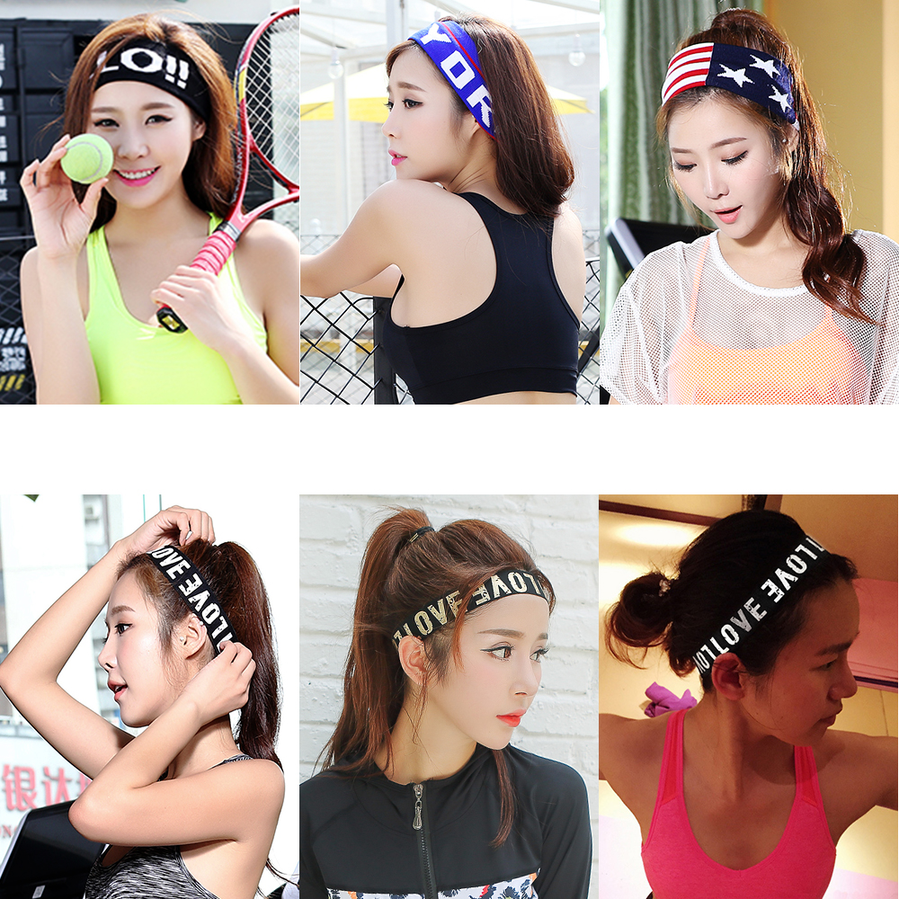 Korean fashion mens and womens sports headband Yoga headband gym running sweat absorption and anti sweat band forehead protection Korean headwear
