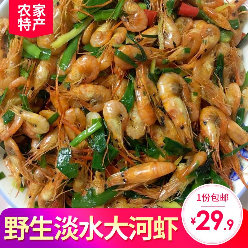 野生河虾干淡水无盐干虾红虾小干虾 虾 虾皮虾子水产干货250g