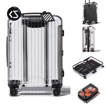 旅行拉杆箱登机箱行李箱日默瓦联名透明OWRIMOWAWHITEOFF