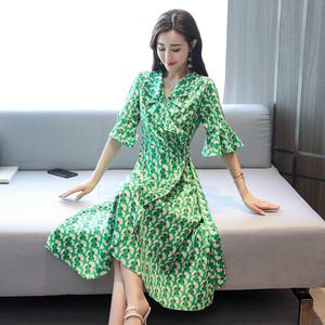 美中腰套头喇叭袖2018夏季公主裙中长款XKYBZW P95