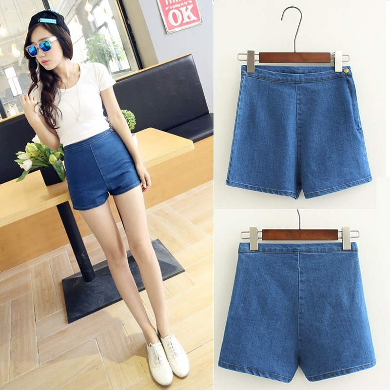 Net red same style shorts womens spring 2020 new Korean TIGHT SKINNY hot pants chic shorts high waist denim shorts